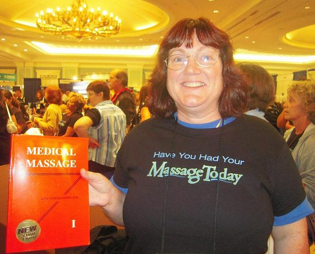 Mrs M. Rich, LMT, winner of Medical Massage Volume I textbook